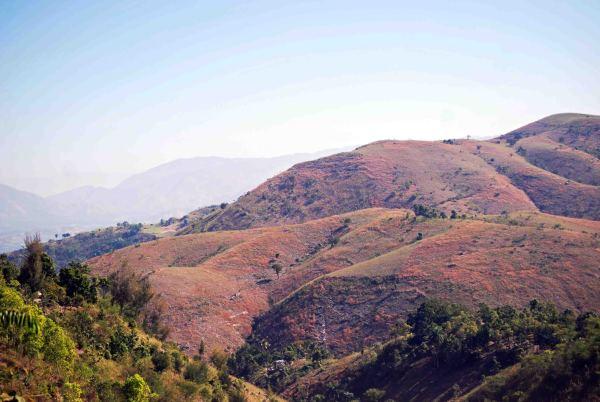 bare mountains of Haiti