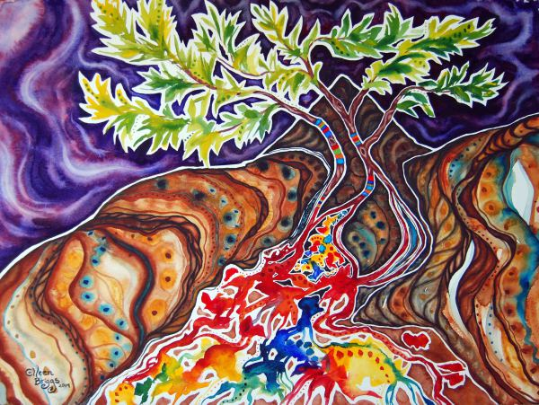 """Canopy of Hope: new limited edition to benefit Young Life Haiti. Fine art print measures 14"""" x 10.5"""" and is available through www.pambatoto.com."""