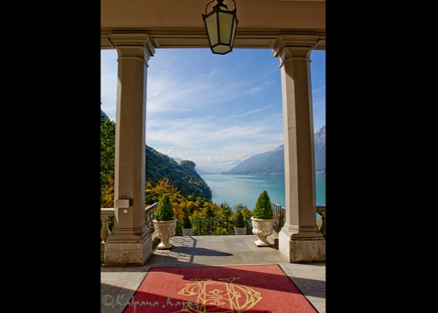 The Grand Hotel Giessbach on Lake Brienz