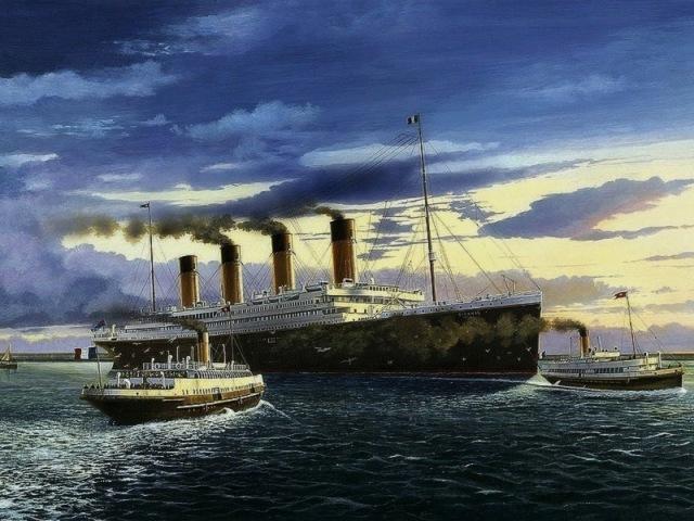 31-titanic in cherbourg harbour jacques mignon