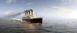 titanic on the sea
